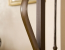 Scala a chiocciola elicoidali in ferro e legno - delta 2af