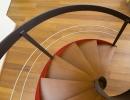 Scala a chiocciola elicoidali in ferro e legno - elica free