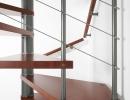 Scala a chiocciola in ferro e legno - Genius Q 010 1 (1)