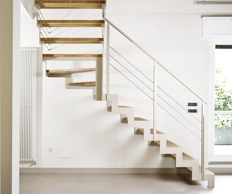 Scala a rampe in ferro e legno elite strike wood tokyo for Scale per interni milano