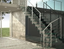 Scala a rampe in ferro e vetro – Moden Glass
