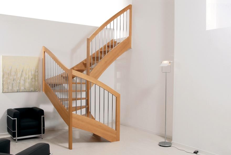 Scala a rampe in legno – Mod.KO