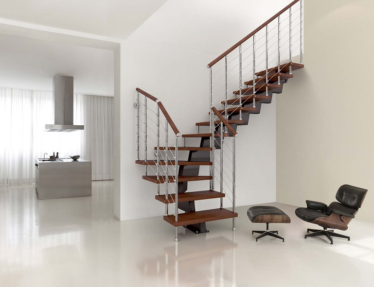 Eccezionale Scala a rampe in ferro e legno - Mod.50RA | Zichichi KS42