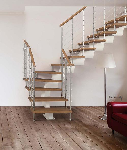 Scala a rampe in ferro e legno – Mod.60RA